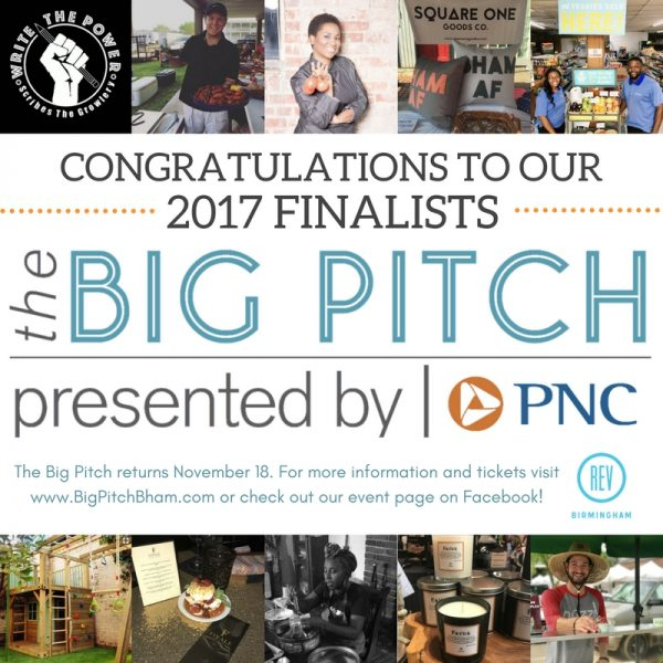 Finalists announced for THE BIG PITCH 2017, Presented by PNC | REV